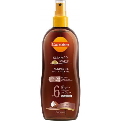 CARROTEN Summer Dreams Tanning Oil Deep Tan SPF6 Αντηλιακό Λάδι Σώματος με Έλαιο Καρύδας 200ml