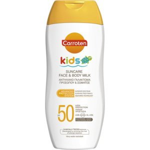 CARROTEN Kids Suncare Face and Body Milk Παιδικό Αντηλιακό Γαλάκτωμα για Πρόσωπο και Σώμα SPF50 200ml
