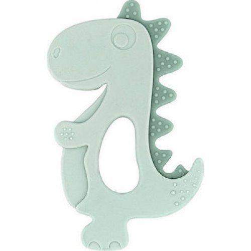 Kikka Boo Μασητικό Σιλικόνης Dinosaur Mint 3801303020279