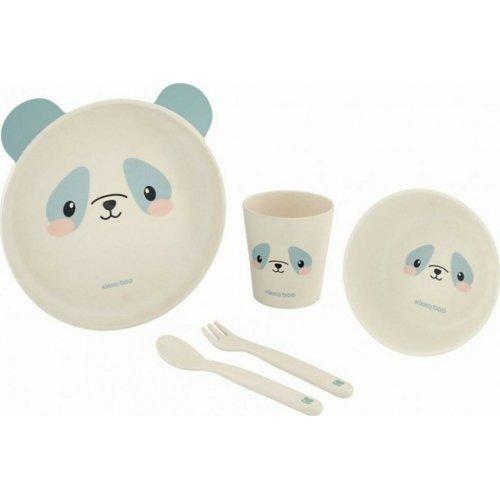 Kikka Boo Σετ Φαγητού Bamboo Panda Blue 3801302040728