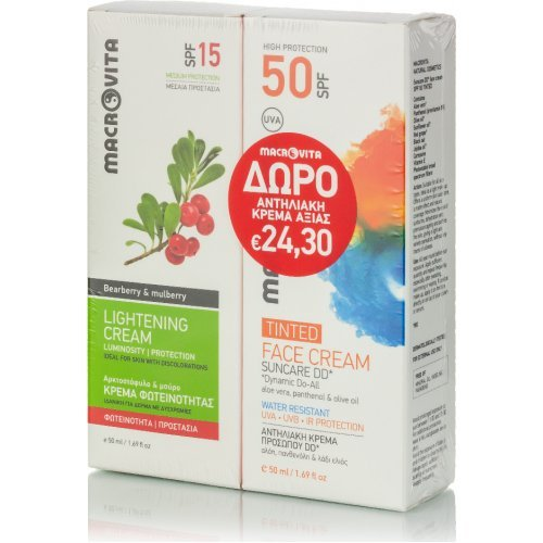 Macrovita Πακέτο Προσφοράς Lightening Cream SPF15 50ml και Δώρο Suncare Face Cream Tinted SPG50 50ml