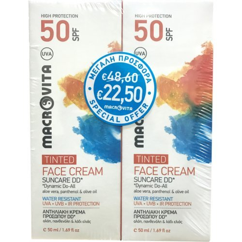 Macrovita Suncare DD Tinted Face Cream SPF50 2x50ml