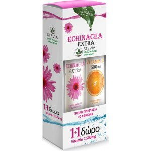 Power Health Echinacea Extra 24 αναβράζοντα δισκία και Vitamin C 500mg 20 αναβράζοντα δισκία