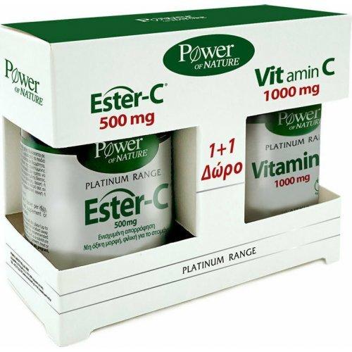 Power Health Classics Platinum Range Ester-C 500mg 50 ταμπλέτες and Vitamin C 1000mg 20 ταμπλέτες