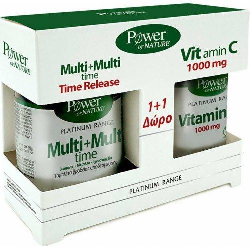 Power Health Classics Platinum Range Multi+Multi Time 30 ταμπλέτες and Vitamin C 1000mg 20 ταμπλέτες