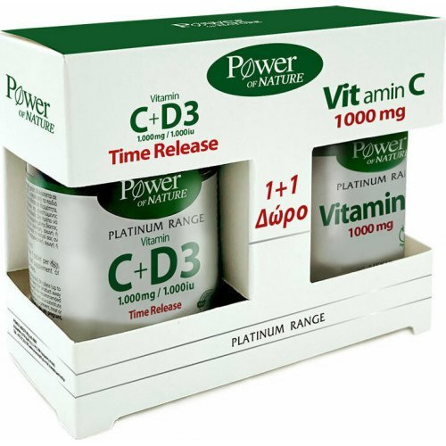 Power Health Classics Platinum Range Vitamin C+D3 1000mg 30 ταμπλέτες and Vitamin C 1000mg 20 ταμπλέτες