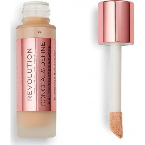 Revolution Beauty Conceal and Define Full Coverage Foundation F8 23ml