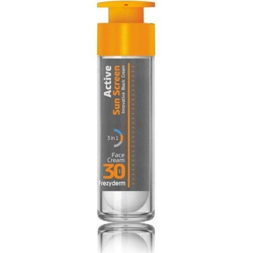 Frezyderm Αντηλιακή Κρέμα Προσώπου SPF30 Active Sun Screen Innovative Black Cream 50ml