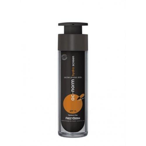 AC-NORM HYDRA SCREEN SPF 15 Ενυδατική, αντηλιακή κρέμα για λιπαρό δέρμα με ατέλειες 50ml