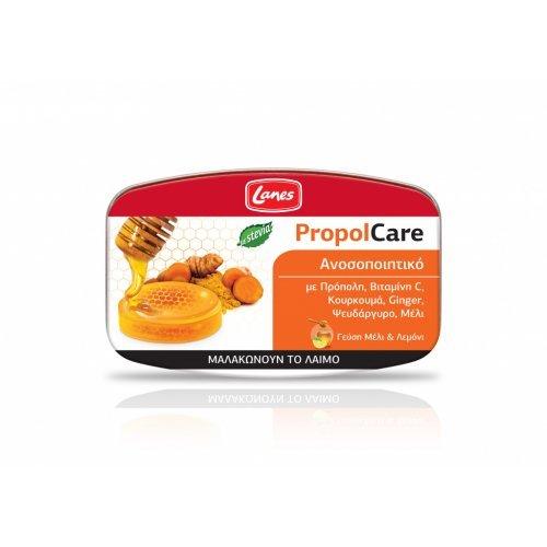 Lanes PropolCare Kαραμέλες μέλι & λεμόνι 54gr