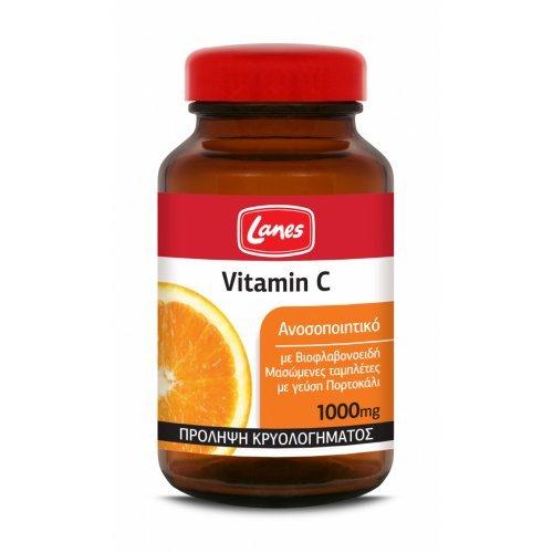 Lanes Βιταμίνη C 1000mg 60 μασώμενες ταμπλέτες