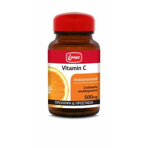 Lanes Βιταμίνη C 500mg 30 Ταμπλέτες