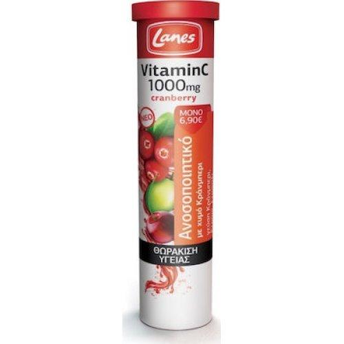 Lanes Βιταμίνη C 1000mg + Cranberry 20 Ταμπλέτες