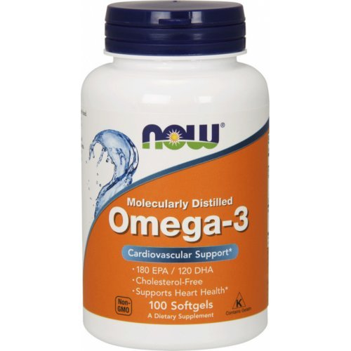 NOW OMEGA-3 MOLECULARLY DISTILLED 100 Μαλακές Κάψουλες