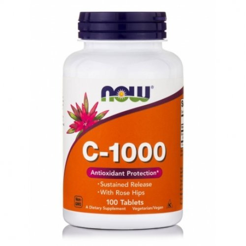 NOW VITAMIN C-1000 SUSTAINED RELEASE 100 Ταμπλέτες