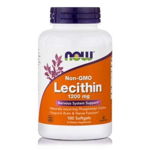 NOW LECITHIN 1200 MG  100 Μαλακές Κάψουλες