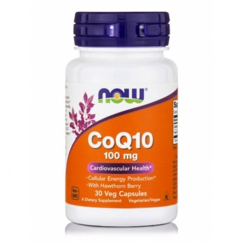 NOW COQ10 100 MG WITH HAWTHORN BERRY VEG 30 Κάψουλες