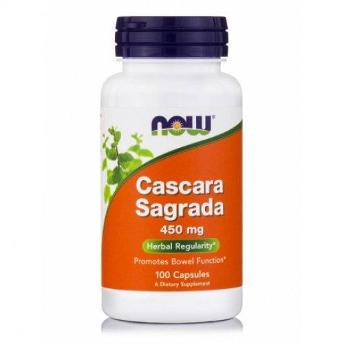 NOW CASCARA SAGRADA 450 MG 100 Κάψουλες