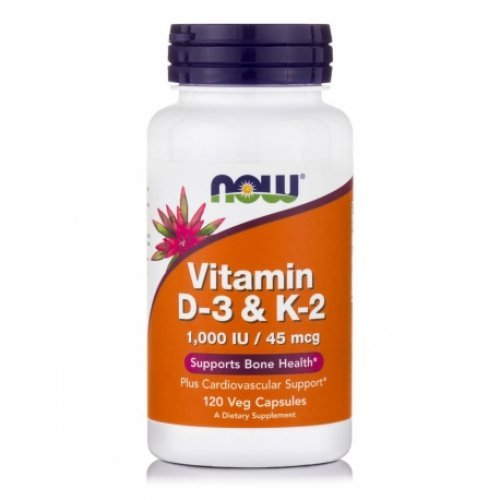 NOW VITAMIN D3 AND  K2 VEG 120 Κάψουλες