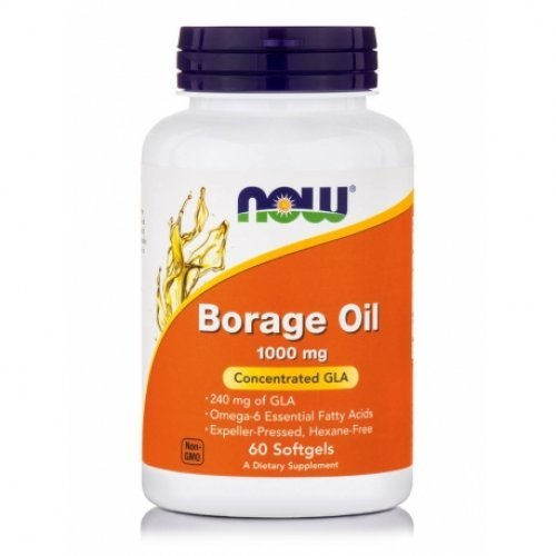 NOW BORAGE OIL 1000 MG 60 Μαλακές Κάψουλες
