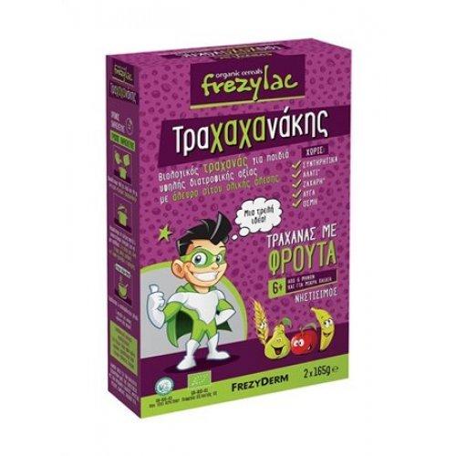 FREZYLAC ΤΡΑΧΑΧΑΝΑΚΗΣ - Βιολογικός Τραχανάς με Βιολογικά Φρούτα 2x165g