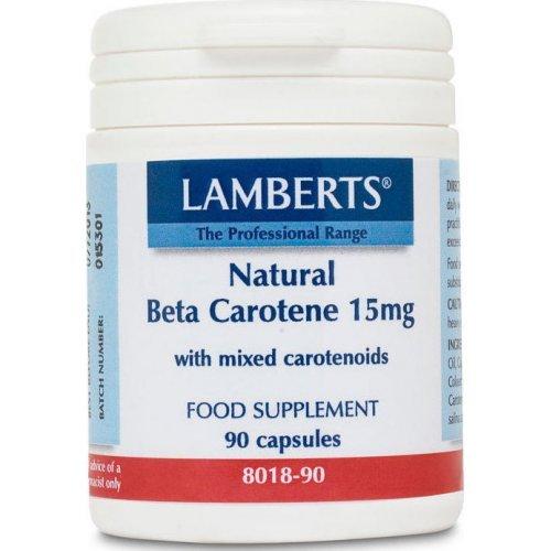 Lamberts Beta Carotene Natural 15mg 90 κάψουλες