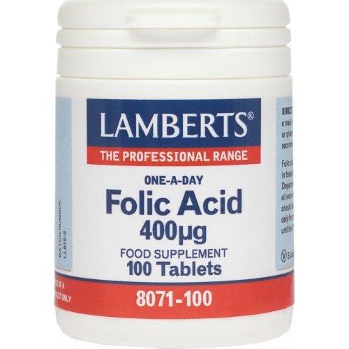Lamberts One-A-Day Folic Acid 400mg 100 ταμπλέτες