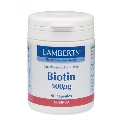 Lamberts Biotin 500mcg 90 κάψουλες