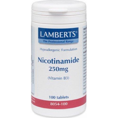 Lamberts Nicotinamide Vitamin B3 250MG 100 ταμπλέτες