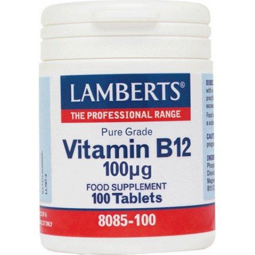 Lamberts Vitamin B12 100mcg 100 ταμπλέτες