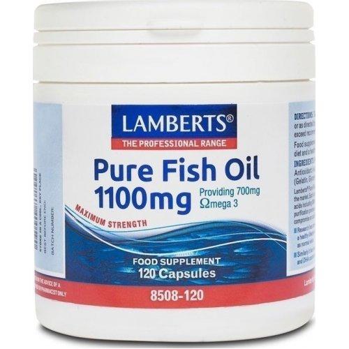 LAMBERTS Pure Fish Oil 1100mg 120CAPS