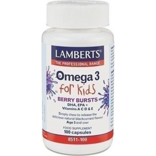 LAMBERTS Omega 3 for Kids – Berry Bursts 100CAPS