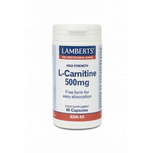 L-CARNITINE 500MG NEW HIGHER STRENGTH 60CAPS