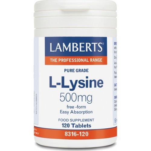 L-LYSINE 500MG 120TABS