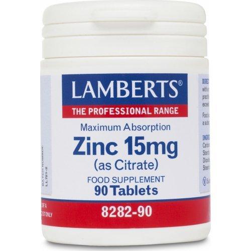 LAMBERTS ZINC 15MG (CITRATE) 90TABS