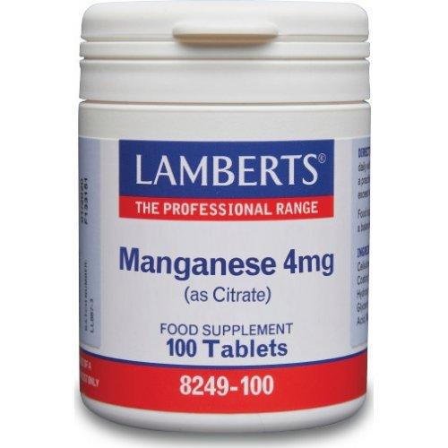 Lamberts Manganese 4mg (as Citrate) 100 Ταμπλέτες