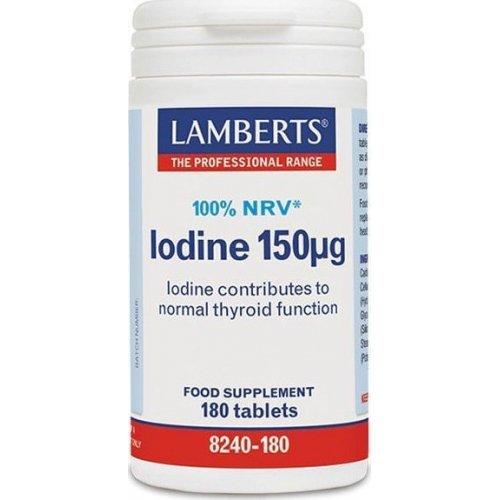 Lamberts Iodine 150μg 180 ταμπλέτες