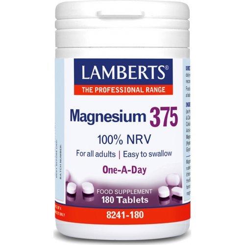 Lamberts Magnesium 375 100% NRV 180 ταμπλέτες