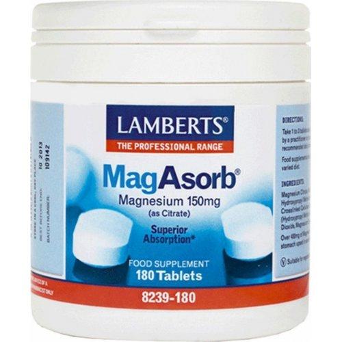 Lamberts Mag Asorb Μαγνήσιο Υψηλής Απορρόφησης 180 ταμπλέτες
