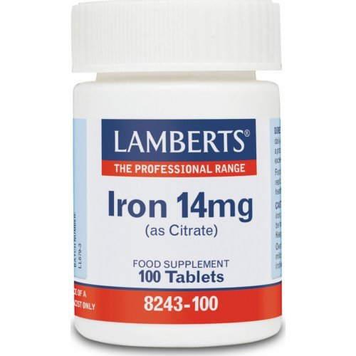 Lamberts Iron 14mg (Citrate) 100 ταμπλέτες