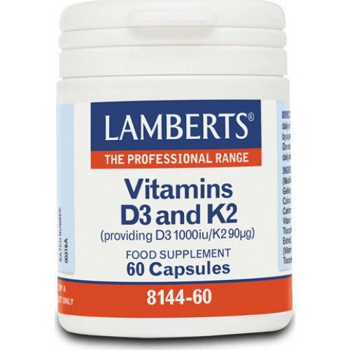 Lamberts Vitamin D3 1000iu and K2 90µg 60 κάψουλες