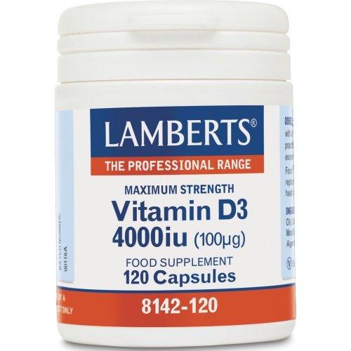 Lamberts Vitamin D3 4000iu 120 κάψουλες