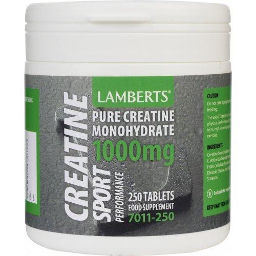 Lamberts Creatine 1000mg 250 ταμπλέτες