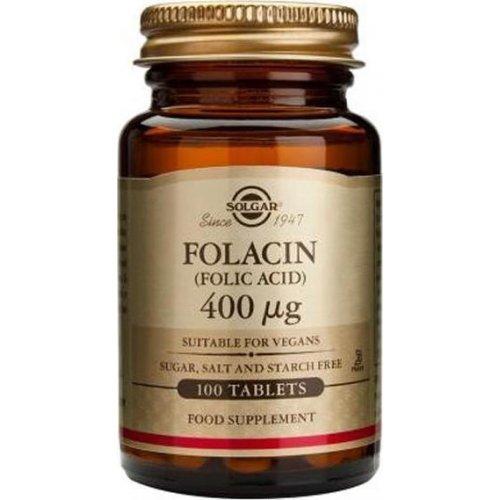 Solgar Folic Acid 400mg 100 ταμπλέτες