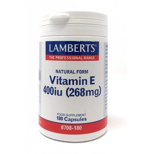 Lamberts Vitamin E 400IU Natural Form 180 κάψουλες