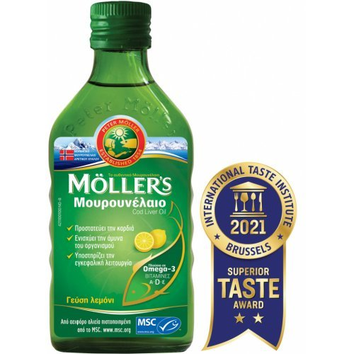 Moller's Μουρουνέλαιο Cod Liver Oil 250ml Λεμόνι