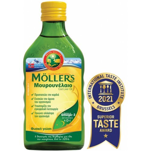 Moller's Μουρουνέλαιο Cod Liver Oil 250ml Natural