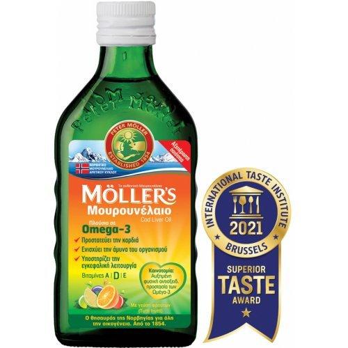 Moller's Μουρουνέλαιο Cod Liver Oil 250ml Tutti Frutti