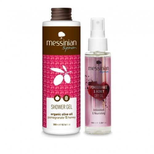 Messinian Spa Promo Pomegranate & Honey Dry Oil 100ml & Showergel Pomegranate & Honey 300ml