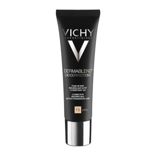 Vichy Dermablend 3D Διόρθωση 16ωρών Make up, Επιδερμίδα με Τάση Ακμής Νο 15 OPAL 30ml